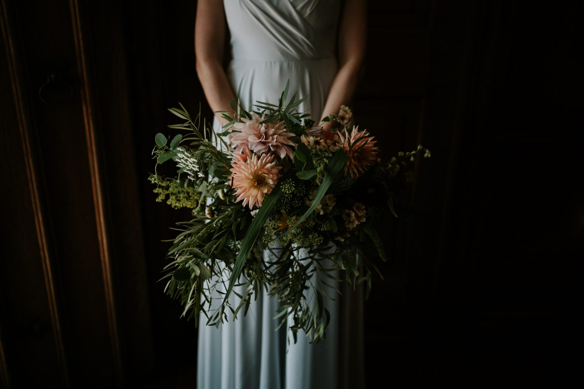 a close up image of a huge wild bouquet filled with lots of wild flowers